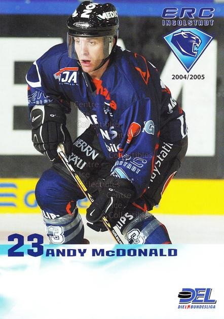 2004-05 German Ingolstadt ERC Postcards #17 Andy McDonald<br/>3 In Stock - $3.00 each - <a href=https://centericecollectibles.foxycart.com/cart?name=2004-05%20German%20Ingolstadt%20ERC%20Postcards%20%2317%20Andy%20McDonald...&quantity_max=3&price=$3.00&code=599810 class=foxycart> Buy it now! </a>