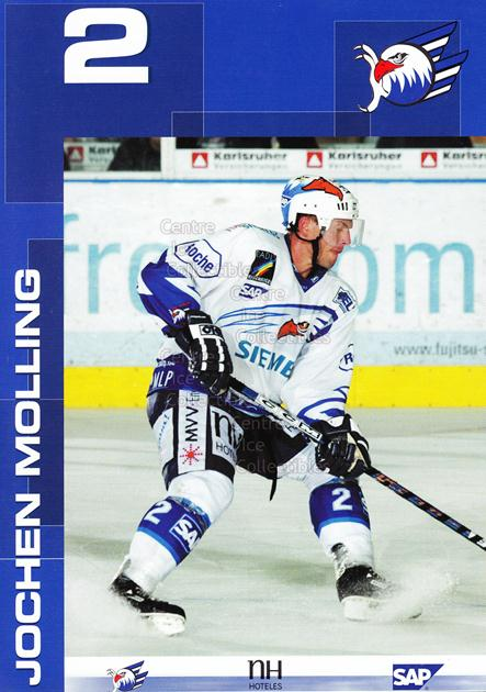 2003-04 German Mannheim Eagles Postcards #18 Jochen Molling<br/>1 In Stock - $3.00 each - <a href=https://centericecollectibles.foxycart.com/cart?name=2003-04%20German%20Mannheim%20Eagles%20Postcards%20%2318%20Jochen%20Molling...&quantity_max=1&price=$3.00&code=599836 class=foxycart> Buy it now! </a>