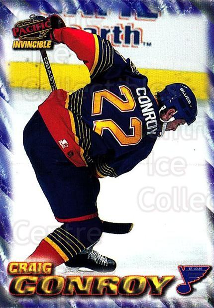1997-98 Pacific Invincible NHL Regime #168 Craig Conroy<br/>3 In Stock - $1.00 each - <a href=https://centericecollectibles.foxycart.com/cart?name=1997-98%20Pacific%20Invincible%20NHL%20Regime%20%23168%20Craig%20Conroy...&quantity_max=3&price=$1.00&code=59987 class=foxycart> Buy it now! </a>