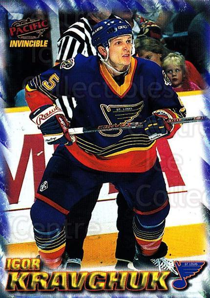 1997-98 Pacific Invincible NHL Regime #170 Igor Kravchuk<br/>2 In Stock - $1.00 each - <a href=https://centericecollectibles.foxycart.com/cart?name=1997-98%20Pacific%20Invincible%20NHL%20Regime%20%23170%20Igor%20Kravchuk...&quantity_max=2&price=$1.00&code=59989 class=foxycart> Buy it now! </a>