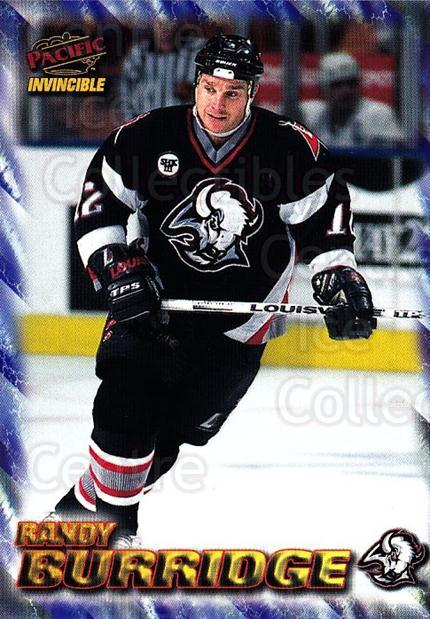 1997-98 Pacific Invincible NHL Regime #18 Randy Burridge<br/>3 In Stock - $1.00 each - <a href=https://centericecollectibles.foxycart.com/cart?name=1997-98%20Pacific%20Invincible%20NHL%20Regime%20%2318%20Randy%20Burridge...&quantity_max=3&price=$1.00&code=59998 class=foxycart> Buy it now! </a>