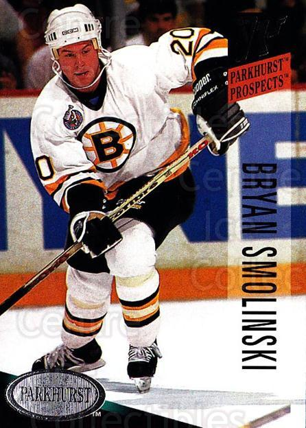1993-94 Parkhurst #259 Bryan Smolinski<br/>5 In Stock - $1.00 each - <a href=https://centericecollectibles.foxycart.com/cart?name=1993-94%20Parkhurst%20%23259%20Bryan%20Smolinski...&quantity_max=5&price=$1.00&code=5999 class=foxycart> Buy it now! </a>