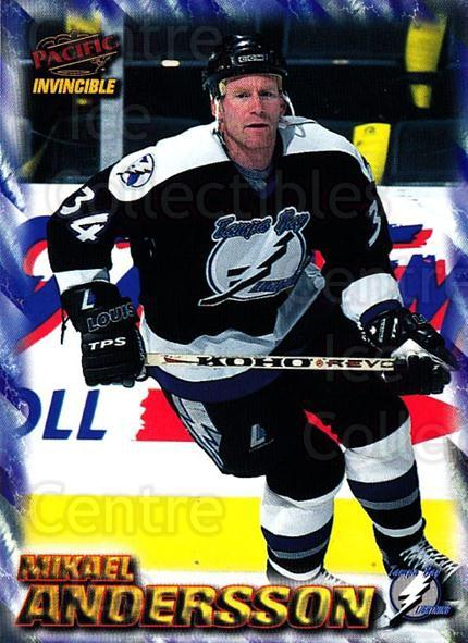1997-98 Pacific Invincible NHL Regime #182 Mikael Andersson<br/>4 In Stock - $1.00 each - <a href=https://centericecollectibles.foxycart.com/cart?name=1997-98%20Pacific%20Invincible%20NHL%20Regime%20%23182%20Mikael%20Andersso...&quantity_max=4&price=$1.00&code=60001 class=foxycart> Buy it now! </a>