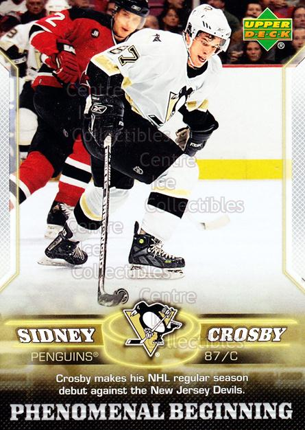 2005-06 UD Sidney Crosby Phenomenal Beginning Silver #2 Sidney Crosby<br/>1 In Stock - $3.00 each - <a href=https://centericecollectibles.foxycart.com/cart?name=2005-06%20UD%20Sidney%20Crosby%20Phenomenal%20Beginning%20Silver%20%232%20Sidney%20Crosby...&quantity_max=1&price=$3.00&code=600023 class=foxycart> Buy it now! </a>