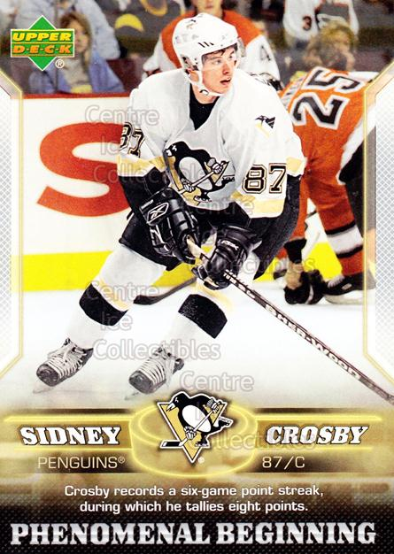 2005-06 UD Sidney Crosby Phenomenal Beginning Silver #5 Sidney Crosby<br/>5 In Stock - $3.00 each - <a href=https://centericecollectibles.foxycart.com/cart?name=2005-06%20UD%20Sidney%20Crosby%20Phenomenal%20Beginning%20Silver%20%235%20Sidney%20Crosby...&quantity_max=5&price=$3.00&code=600026 class=foxycart> Buy it now! </a>
