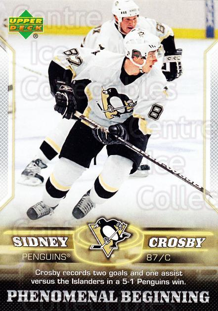 2005-06 UD Sidney Crosby Phenomenal Beginning Silver #7 Sidney Crosby, Mario Lemieux<br/>2 In Stock - $3.00 each - <a href=https://centericecollectibles.foxycart.com/cart?name=2005-06%20UD%20Sidney%20Crosby%20Phenomenal%20Beginning%20Silver%20%237%20Sidney%20Crosby,%20...&quantity_max=2&price=$3.00&code=600028 class=foxycart> Buy it now! </a>