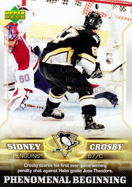 2005-06 UD Sidney Crosby Phenomenal Beginning Silver #9 Sidney Crosby<br/>9 In Stock - $3.00 each - <a href=https://centericecollectibles.foxycart.com/cart?name=2005-06%20UD%20Sidney%20Crosby%20Phenomenal%20Beginning%20Silver%20%239%20Sidney%20Crosby...&quantity_max=9&price=$3.00&code=600030 class=foxycart> Buy it now! </a>