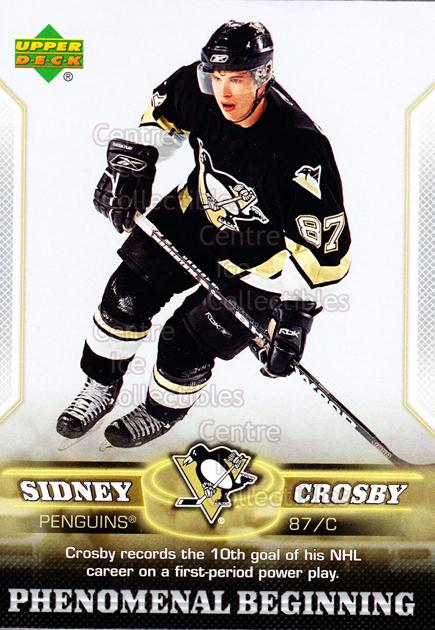 2005-06 UD Sidney Crosby Phenomenal Beginning Silver #11 Sidney Crosby<br/>3 In Stock - $3.00 each - <a href=https://centericecollectibles.foxycart.com/cart?name=2005-06%20UD%20Sidney%20Crosby%20Phenomenal%20Beginning%20Silver%20%2311%20Sidney%20Crosby...&quantity_max=3&price=$3.00&code=600032 class=foxycart> Buy it now! </a>