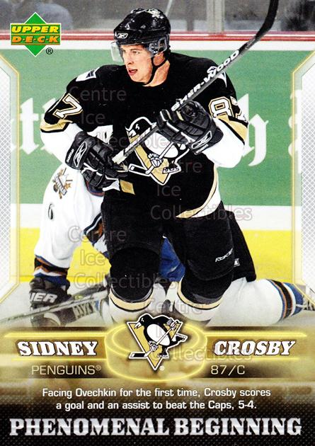 2005-06 UD Sidney Crosby Phenomenal Beginning Silver #12 Sidney Crosby<br/>4 In Stock - $3.00 each - <a href=https://centericecollectibles.foxycart.com/cart?name=2005-06%20UD%20Sidney%20Crosby%20Phenomenal%20Beginning%20Silver%20%2312%20Sidney%20Crosby...&quantity_max=4&price=$3.00&code=600033 class=foxycart> Buy it now! </a>