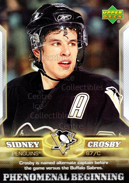 2005-06 UD Sidney Crosby Phenomenal Beginning Silver #13 Sidney Crosby<br/>2 In Stock - $3.00 each - <a href=https://centericecollectibles.foxycart.com/cart?name=2005-06%20UD%20Sidney%20Crosby%20Phenomenal%20Beginning%20Silver%20%2313%20Sidney%20Crosby...&quantity_max=2&price=$3.00&code=600034 class=foxycart> Buy it now! </a>