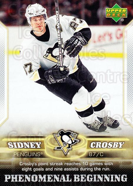 2005-06 UD Sidney Crosby Phenomenal Beginning Silver #15 Sidney Crosby<br/>2 In Stock - $3.00 each - <a href=https://centericecollectibles.foxycart.com/cart?name=2005-06%20UD%20Sidney%20Crosby%20Phenomenal%20Beginning%20Silver%20%2315%20Sidney%20Crosby...&quantity_max=2&price=$3.00&code=600036 class=foxycart> Buy it now! </a>