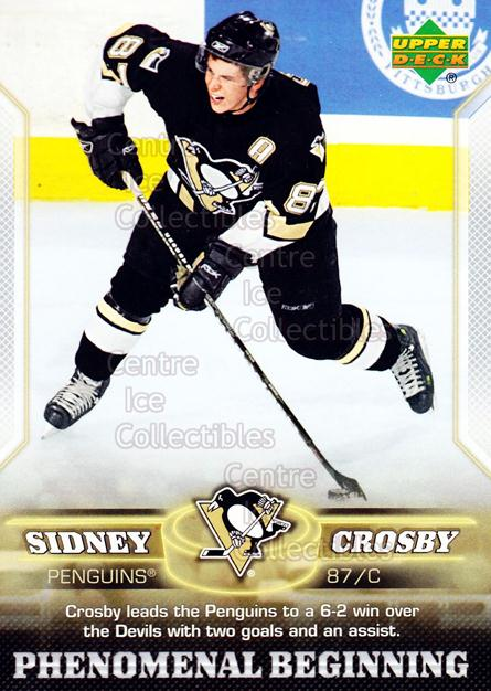 2005-06 UD Sidney Crosby Phenomenal Beginning Silver #16 Sidney Crosby<br/>2 In Stock - $3.00 each - <a href=https://centericecollectibles.foxycart.com/cart?name=2005-06%20UD%20Sidney%20Crosby%20Phenomenal%20Beginning%20Silver%20%2316%20Sidney%20Crosby...&quantity_max=2&price=$3.00&code=600037 class=foxycart> Buy it now! </a>