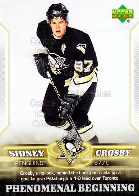 2005-06 UD Sidney Crosby Phenomenal Beginning Silver #18 Sidney Crosby<br/>1 In Stock - $2.00 each - <a href=https://centericecollectibles.foxycart.com/cart?name=2005-06%20UD%20Sidney%20Crosby%20Phenomenal%20Beginning%20Silver%20%2318%20Sidney%20Crosby...&price=$2.00&code=600039 class=foxycart> Buy it now! </a>
