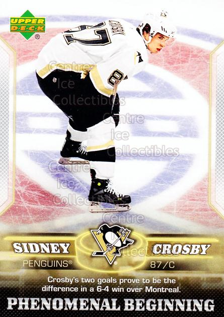 2005-06 UD Sidney Crosby Phenomenal Beginning Silver #19 Sidney Crosby<br/>4 In Stock - $3.00 each - <a href=https://centericecollectibles.foxycart.com/cart?name=2005-06%20UD%20Sidney%20Crosby%20Phenomenal%20Beginning%20Silver%20%2319%20Sidney%20Crosby...&quantity_max=4&price=$3.00&code=600040 class=foxycart> Buy it now! </a>