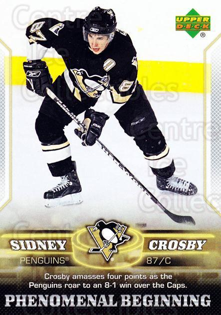 2005-06 UD Sidney Crosby Phenomenal Beginning Silver #20 Sidney Crosby<br/>1 In Stock - $3.00 each - <a href=https://centericecollectibles.foxycart.com/cart?name=2005-06%20UD%20Sidney%20Crosby%20Phenomenal%20Beginning%20Silver%20%2320%20Sidney%20Crosby...&quantity_max=1&price=$3.00&code=600041 class=foxycart> Buy it now! </a>