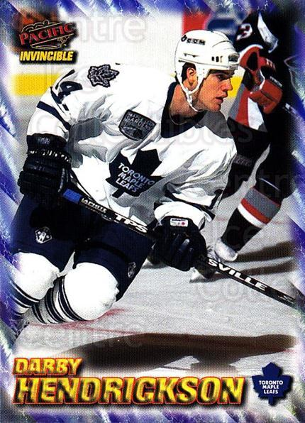1997-98 Pacific Invincible NHL Regime #193 Darby Hendrickson<br/>3 In Stock - $1.00 each - <a href=https://centericecollectibles.foxycart.com/cart?name=1997-98%20Pacific%20Invincible%20NHL%20Regime%20%23193%20Darby%20Hendricks...&quantity_max=3&price=$1.00&code=60011 class=foxycart> Buy it now! </a>