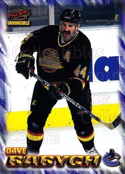 1997-98 Pacific Invincible NHL Regime #199 Dave Babych<br/>4 In Stock - $1.00 each - <a href=https://centericecollectibles.foxycart.com/cart?name=1997-98%20Pacific%20Invincible%20NHL%20Regime%20%23199%20Dave%20Babych...&quantity_max=4&price=$1.00&code=60017 class=foxycart> Buy it now! </a>