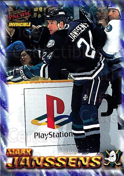 1997-98 Pacific Invincible NHL Regime #2 Mark Janssens<br/>4 In Stock - $1.00 each - <a href=https://centericecollectibles.foxycart.com/cart?name=1997-98%20Pacific%20Invincible%20NHL%20Regime%20%232%20Mark%20Janssens...&quantity_max=4&price=$1.00&code=60018 class=foxycart> Buy it now! </a>