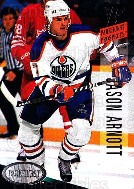1993-94 Parkhurst #261 Jason Arnott<br/>4 In Stock - $1.00 each - <a href=https://centericecollectibles.foxycart.com/cart?name=1993-94%20Parkhurst%20%23261%20Jason%20Arnott...&quantity_max=4&price=$1.00&code=6001 class=foxycart> Buy it now! </a>