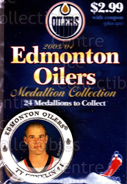 2003-04 Edmonton Oilers Medallion #4 Ty Conklin<br/>1 In Stock - $5.00 each - <a href=https://centericecollectibles.foxycart.com/cart?name=2003-04%20Edmonton%20Oilers%20Medallion%20%234%20Ty%20Conklin...&quantity_max=1&price=$5.00&code=600204 class=foxycart> Buy it now! </a>