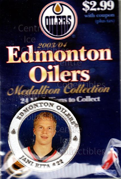 2003-04 Edmonton Oilers Medallion #15 Jani Rita<br/>2 In Stock - $5.00 each - <a href=https://centericecollectibles.foxycart.com/cart?name=2003-04%20Edmonton%20Oilers%20Medallion%20%2315%20Jani%20Rita...&quantity_max=2&price=$5.00&code=600215 class=foxycart> Buy it now! </a>
