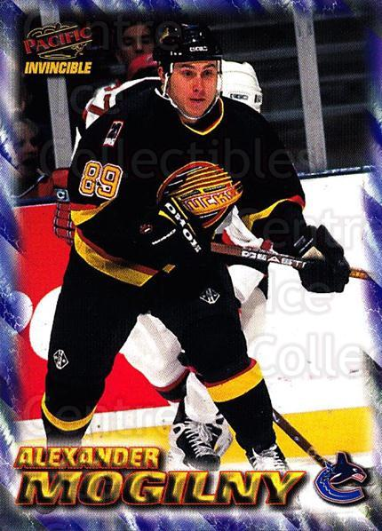 1997-98 Pacific Invincible NHL Regime #203 Alexander Mogilny<br/>4 In Stock - $2.00 each - <a href=https://centericecollectibles.foxycart.com/cart?name=1997-98%20Pacific%20Invincible%20NHL%20Regime%20%23203%20Alexander%20Mogil...&quantity_max=4&price=$2.00&code=60021 class=foxycart> Buy it now! </a>