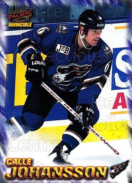 1997-98 Pacific Invincible NHL Regime #208 Calle Johansson<br/>3 In Stock - $1.00 each - <a href=https://centericecollectibles.foxycart.com/cart?name=1997-98%20Pacific%20Invincible%20NHL%20Regime%20%23208%20Calle%20Johansson...&quantity_max=3&price=$1.00&code=60026 class=foxycart> Buy it now! </a>