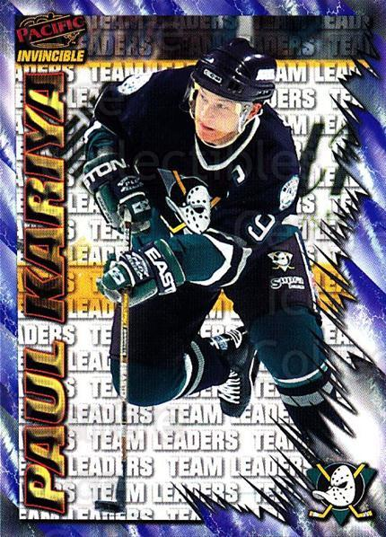 1997-98 Pacific Invincible NHL Regime #215 Paul Kariya<br/>4 In Stock - $2.00 each - <a href=https://centericecollectibles.foxycart.com/cart?name=1997-98%20Pacific%20Invincible%20NHL%20Regime%20%23215%20Paul%20Kariya...&quantity_max=4&price=$2.00&code=60033 class=foxycart> Buy it now! </a>