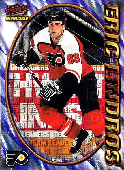 1997-98 Pacific Invincible NHL Regime #219 Eric Lindros<br/>1 In Stock - $2.00 each - <a href=https://centericecollectibles.foxycart.com/cart?name=1997-98%20Pacific%20Invincible%20NHL%20Regime%20%23219%20Eric%20Lindros...&quantity_max=1&price=$2.00&code=60034 class=foxycart> Buy it now! </a>