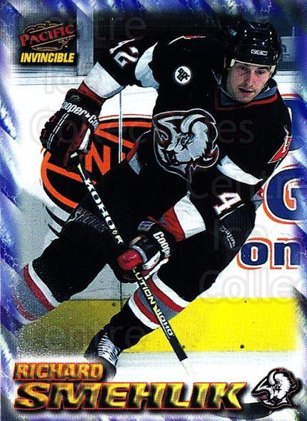 1997-98 Pacific Invincible NHL Regime #23 Richard Smehlik<br/>3 In Stock - $1.00 each - <a href=https://centericecollectibles.foxycart.com/cart?name=1997-98%20Pacific%20Invincible%20NHL%20Regime%20%2323%20Richard%20Smehlik...&quantity_max=3&price=$1.00&code=60036 class=foxycart> Buy it now! </a>