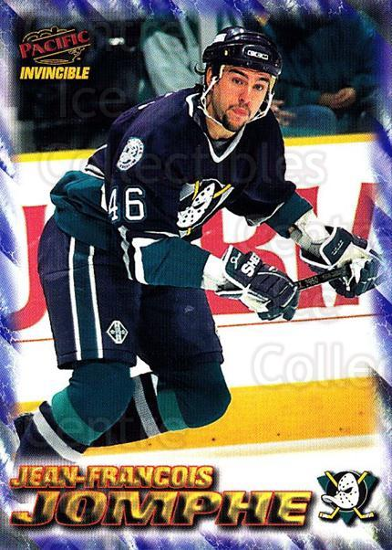 1997-98 Pacific Invincible NHL Regime #3 Jean-Francois Jomphe<br/>3 In Stock - $1.00 each - <a href=https://centericecollectibles.foxycart.com/cart?name=1997-98%20Pacific%20Invincible%20NHL%20Regime%20%233%20Jean-Francois%20J...&quantity_max=3&price=$1.00&code=60040 class=foxycart> Buy it now! </a>