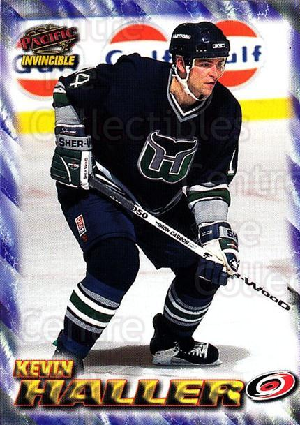 1997-98 Pacific Invincible NHL Regime #36 Kevin Haller<br/>2 In Stock - $1.00 each - <a href=https://centericecollectibles.foxycart.com/cart?name=1997-98%20Pacific%20Invincible%20NHL%20Regime%20%2336%20Kevin%20Haller...&quantity_max=2&price=$1.00&code=60046 class=foxycart> Buy it now! </a>