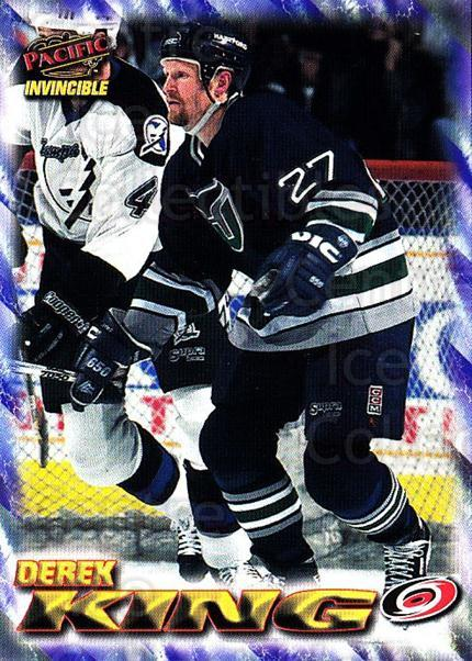 1997-98 Pacific Invincible NHL Regime #37 Derek King<br/>5 In Stock - $1.00 each - <a href=https://centericecollectibles.foxycart.com/cart?name=1997-98%20Pacific%20Invincible%20NHL%20Regime%20%2337%20Derek%20King...&quantity_max=5&price=$1.00&code=60047 class=foxycart> Buy it now! </a>