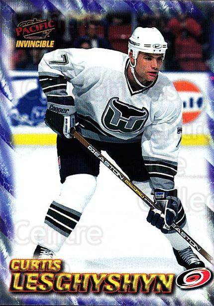 1997-98 Pacific Invincible NHL Regime #38 Curtis Leschyshyn<br/>4 In Stock - $1.00 each - <a href=https://centericecollectibles.foxycart.com/cart?name=1997-98%20Pacific%20Invincible%20NHL%20Regime%20%2338%20Curtis%20Leschysh...&quantity_max=4&price=$1.00&code=60048 class=foxycart> Buy it now! </a>
