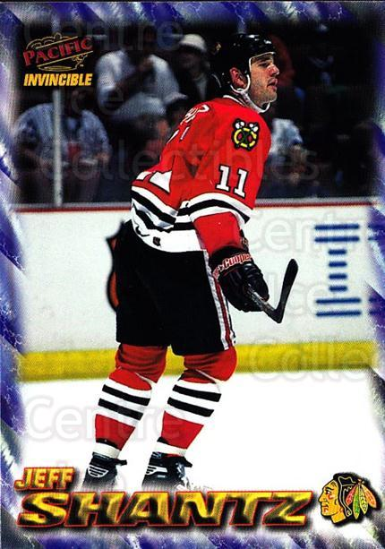 1997-98 Pacific Invincible NHL Regime #46 Jeff Shantz<br/>4 In Stock - $1.00 each - <a href=https://centericecollectibles.foxycart.com/cart?name=1997-98%20Pacific%20Invincible%20NHL%20Regime%20%2346%20Jeff%20Shantz...&quantity_max=4&price=$1.00&code=60057 class=foxycart> Buy it now! </a>