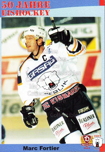 2004-05 German 50 years SC Dynamo Eisbaren Berlin #15 Marc Fortier<br/>1 In Stock - $3.00 each - <a href=https://centericecollectibles.foxycart.com/cart?name=2004-05%20German%2050%20years%20SC%20Dynamo%20Eisbaren%20Berlin%20%2315%20Marc%20Fortier...&quantity_max=1&price=$3.00&code=600928 class=foxycart> Buy it now! </a>