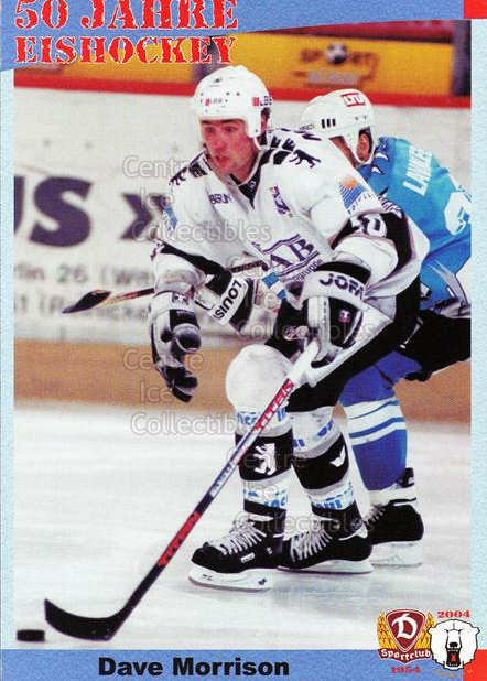 2004-05 German 50 years SC Dynamo Eisbaren Berlin #44 Dave Morrison<br/>1 In Stock - $3.00 each - <a href=https://centericecollectibles.foxycart.com/cart?name=2004-05%20German%2050%20years%20SC%20Dynamo%20Eisbaren%20Berlin%20%2344%20Dave%20Morrison...&quantity_max=1&price=$3.00&code=600957 class=foxycart> Buy it now! </a>