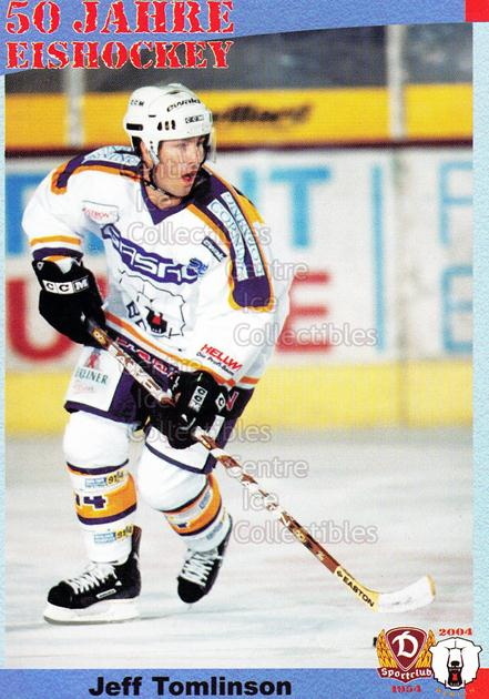 2004-05 German 50 years SC Dynamo Eisbaren Berlin #69 Jeff Tomlinson<br/>1 In Stock - $3.00 each - <a href=https://centericecollectibles.foxycart.com/cart?name=2004-05%20German%2050%20years%20SC%20Dynamo%20Eisbaren%20Berlin%20%2369%20Jeff%20Tomlinson...&quantity_max=1&price=$3.00&code=600982 class=foxycart> Buy it now! </a>