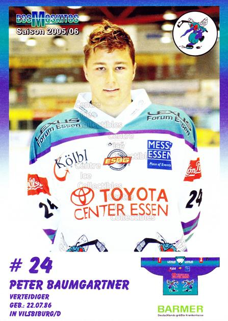 2005-06 German ESC Moskitos Postcards #2 Peter Baumgartner<br/>1 In Stock - $3.00 each - <a href=https://centericecollectibles.foxycart.com/cart?name=2005-06%20German%20ESC%20Moskitos%20Postcards%20%232%20Peter%20Baumgartn...&quantity_max=1&price=$3.00&code=600993 class=foxycart> Buy it now! </a>