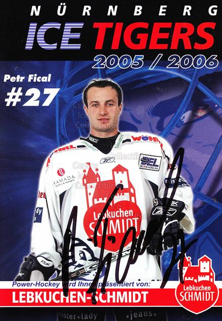2005-06 German Nuermberg Ice Tigers Postcards #7 Petr Fical<br/>1 In Stock - $3.00 each - <a href=https://centericecollectibles.foxycart.com/cart?name=2005-06%20German%20Nuermberg%20Ice%20Tigers%20Postcards%20%237%20Petr%20Fical...&price=$3.00&code=601044 class=foxycart> Buy it now! </a>