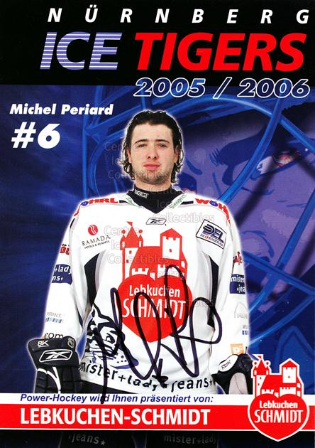 2005-06 German Nuermberg Ice Tigers Postcards #18 Michel Periard<br/>1 In Stock - $3.00 each - <a href=https://centericecollectibles.foxycart.com/cart?name=2005-06%20German%20Nuermberg%20Ice%20Tigers%20Postcards%20%2318%20Michel%20Periard...&price=$3.00&code=601055 class=foxycart> Buy it now! </a>