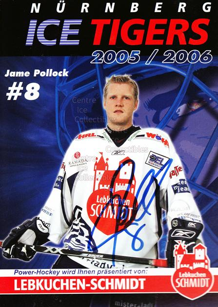 2005-06 German Nuermberg Ice Tigers Postcards #21 James Pollock<br/>1 In Stock - $3.00 each - <a href=https://centericecollectibles.foxycart.com/cart?name=2005-06%20German%20Nuermberg%20Ice%20Tigers%20Postcards%20%2321%20James%20Pollock...&price=$3.00&code=601058 class=foxycart> Buy it now! </a>
