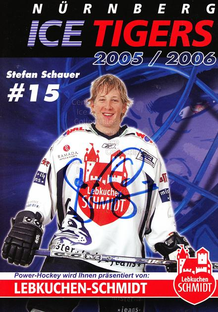 2005-06 German Nuermberg Ice Tigers Postcards #23 Stefan Schauer<br/>1 In Stock - $3.00 each - <a href=https://centericecollectibles.foxycart.com/cart?name=2005-06%20German%20Nuermberg%20Ice%20Tigers%20Postcards%20%2323%20Stefan%20Schauer...&price=$3.00&code=601060 class=foxycart> Buy it now! </a>