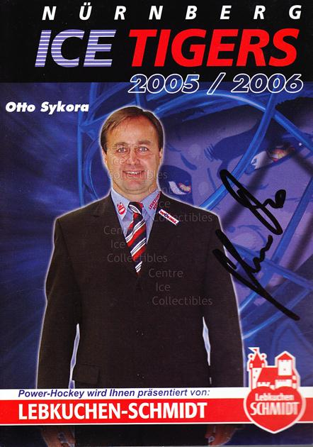 2005-06 German Nuermberg Ice Tigers Postcards #25 Otto Sykora<br/>1 In Stock - $3.00 each - <a href=https://centericecollectibles.foxycart.com/cart?name=2005-06%20German%20Nuermberg%20Ice%20Tigers%20Postcards%20%2325%20Otto%20Sykora...&price=$3.00&code=601062 class=foxycart> Buy it now! </a>