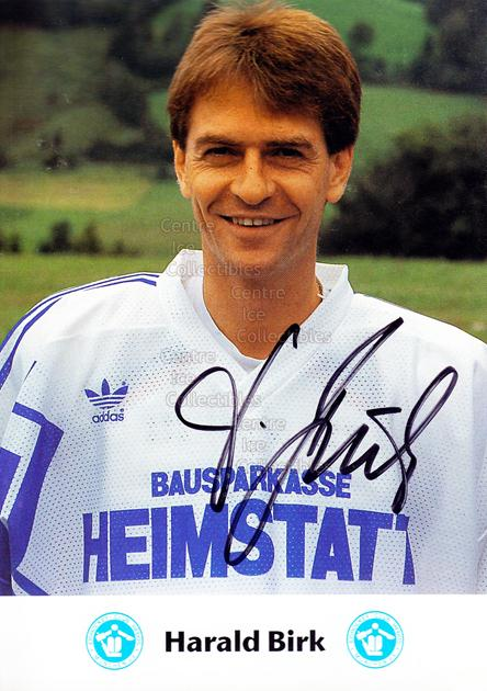 1991-92 German EC Hedos Munchen Postcards #3 Harald Birk<br/>1 In Stock - $3.00 each - <a href=https://centericecollectibles.foxycart.com/cart?name=1991-92%20German%20EC%20Hedos%20Munchen%20Postcards%20%233%20Harald%20Birk...&quantity_max=1&price=$3.00&code=601140 class=foxycart> Buy it now! </a>