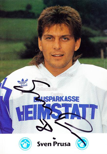 1991-92 German EC Hedos Munchen Postcards #17 Sven Prusa<br/>1 In Stock - $3.00 each - <a href=https://centericecollectibles.foxycart.com/cart?name=1991-92%20German%20EC%20Hedos%20Munchen%20Postcards%20%2317%20Sven%20Prusa...&quantity_max=1&price=$3.00&code=601154 class=foxycart> Buy it now! </a>