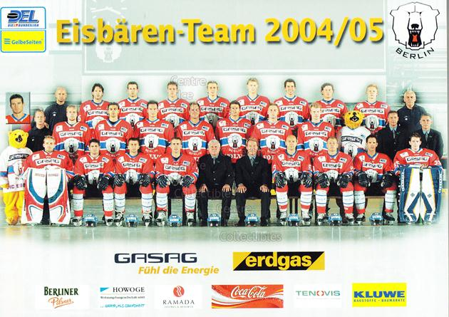 2004-05 German Berlin Polar Bears Postcards #32 Team Photo<br/>1 In Stock - $3.00 each - <a href=https://centericecollectibles.foxycart.com/cart?name=2004-05%20German%20Berlin%20Polar%20Bears%20Postcards%20%2332%20Team%20Photo...&price=$3.00&code=601269 class=foxycart> Buy it now! </a>