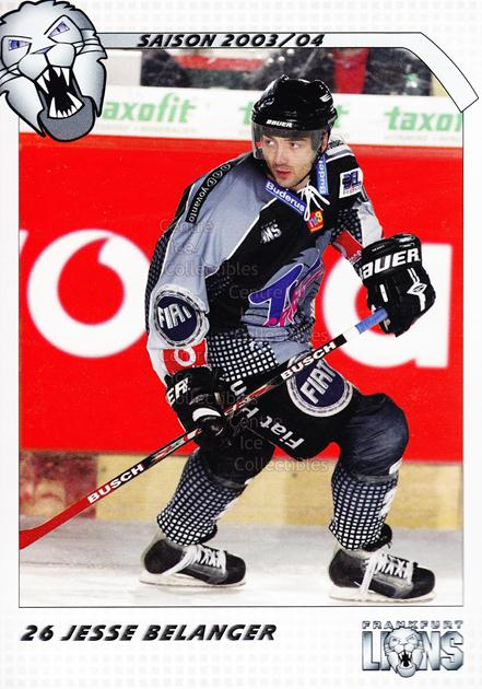 2003-04 German Frankfurt Lions Postcards #1 Jess Belanger<br/>1 In Stock - $3.00 each - <a href=https://centericecollectibles.foxycart.com/cart?name=2003-04%20German%20Frankfurt%20Lions%20Postcards%20%231%20Jess%20Belanger...&quantity_max=1&price=$3.00&code=601294 class=foxycart> Buy it now! </a>
