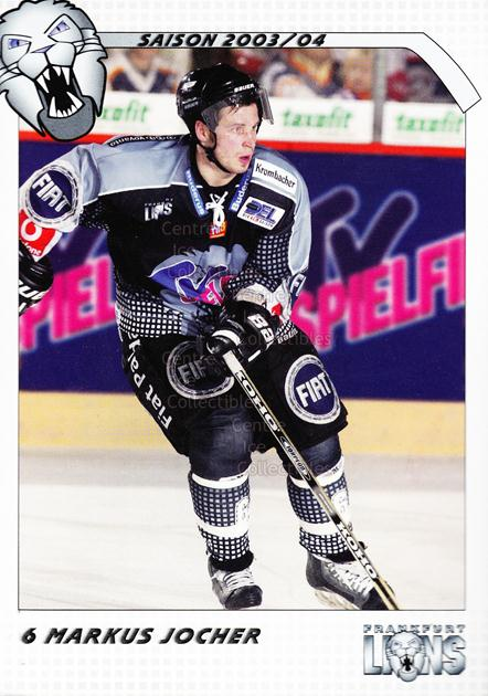 2003-04 German Frankfurt Lions Postcards #10 Markus Jocher<br/>1 In Stock - $3.00 each - <a href=https://centericecollectibles.foxycart.com/cart?name=2003-04%20German%20Frankfurt%20Lions%20Postcards%20%2310%20Markus%20Jocher...&quantity_max=1&price=$3.00&code=601303 class=foxycart> Buy it now! </a>