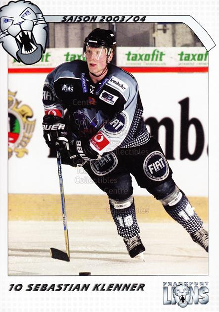 2003-04 German Frankfurt Lions Postcards #11 Sebastian Klenner<br/>1 In Stock - $3.00 each - <a href=https://centericecollectibles.foxycart.com/cart?name=2003-04%20German%20Frankfurt%20Lions%20Postcards%20%2311%20Sebastian%20Klenn...&quantity_max=1&price=$3.00&code=601304 class=foxycart> Buy it now! </a>